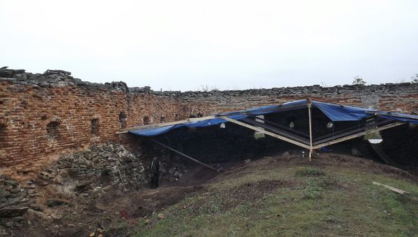 Очищенный фрагмент крыши