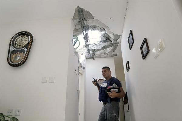"""""""Облачный столп"""" в секторе Газы"""